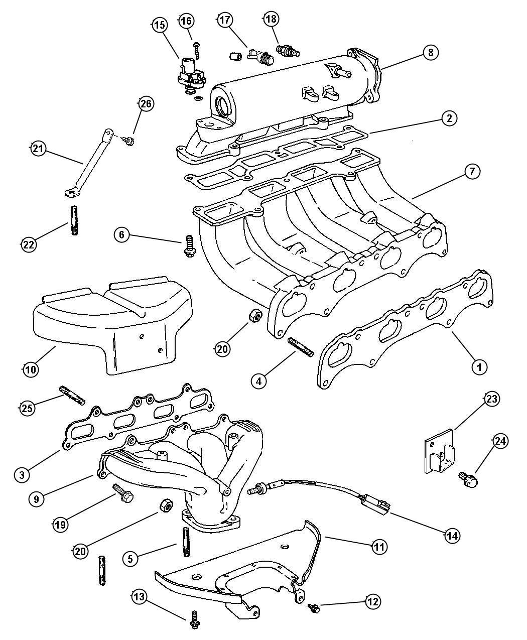 Dodge Avenger Manifold Intake Intake Lower To Head