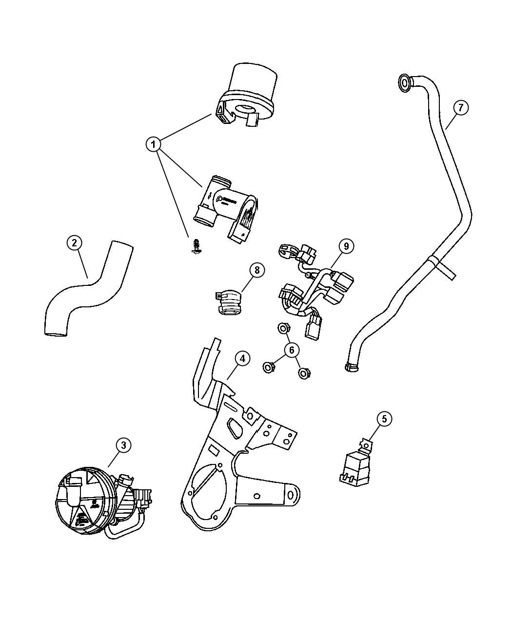 Chrysler Sebring Pump Air Injection Engine System
