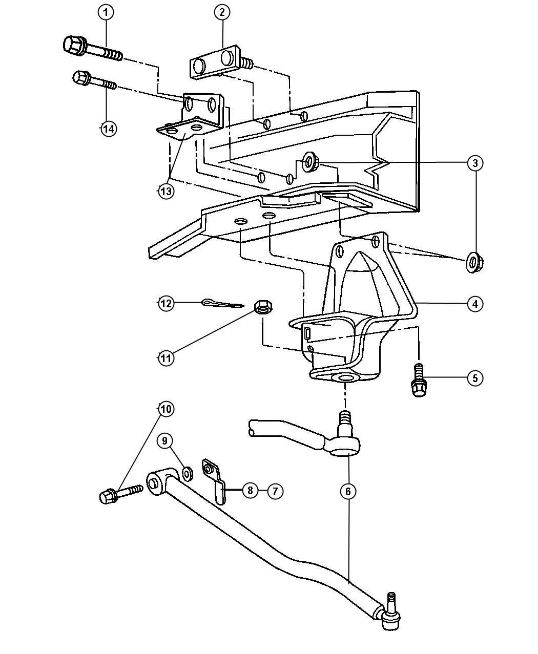 Dodge Avenger Bar Track Front Stabilizer