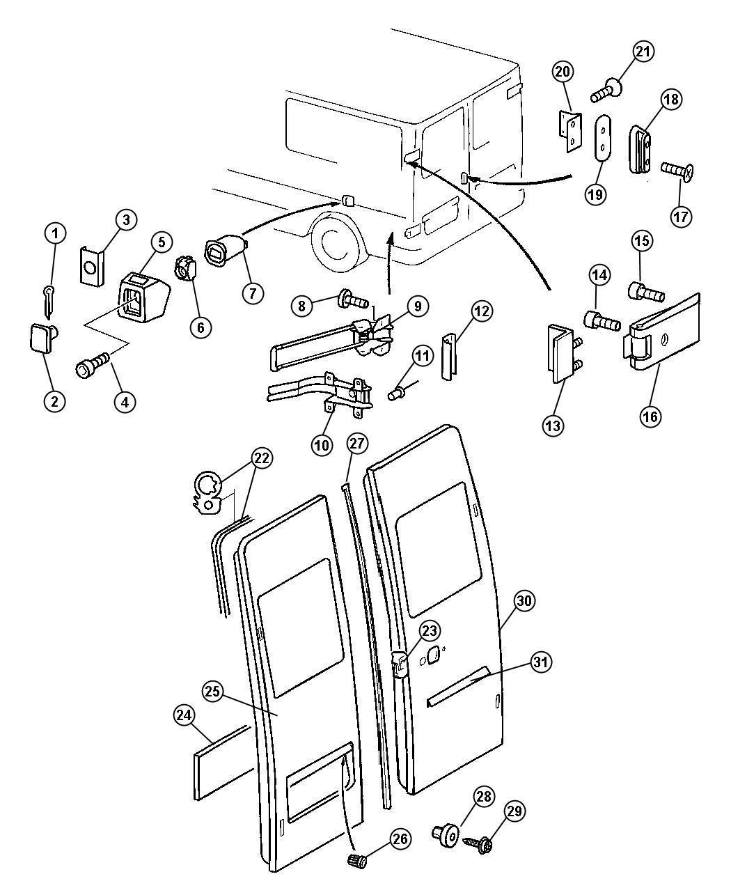 Dodge Sprinter Bracket Hinge Reinforcement Doors