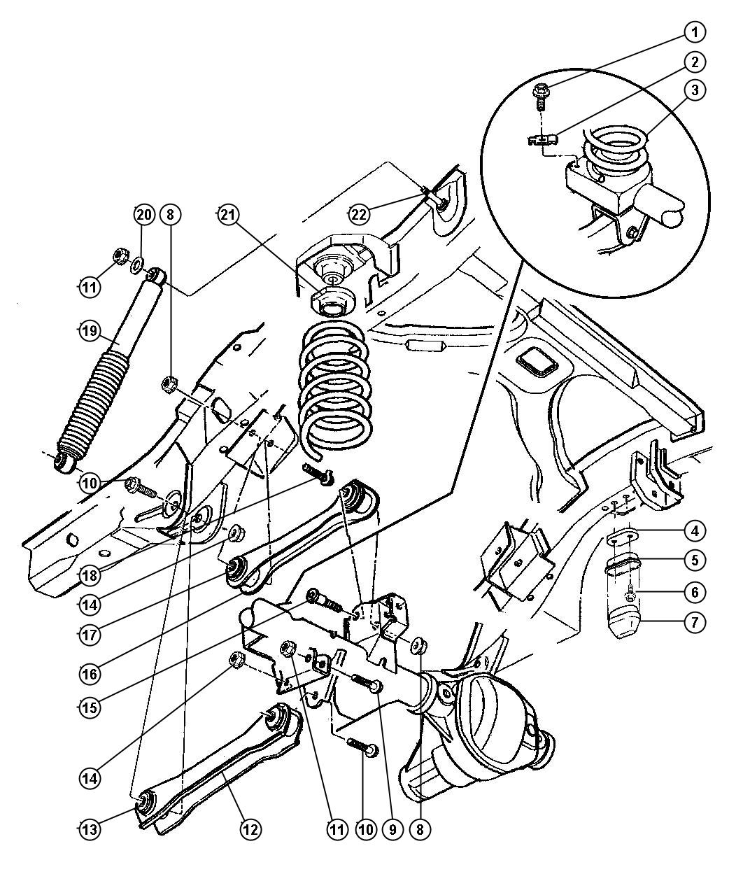 Dodge Dakota Isolator Spring Right Used For Right