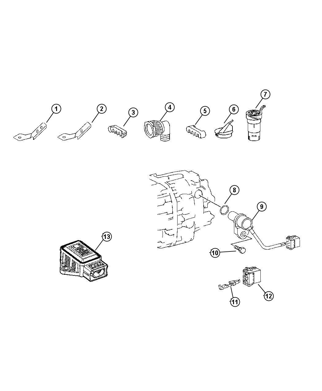 Jeep Compass Sensor Vehicle Speed Pulse Stamp Number