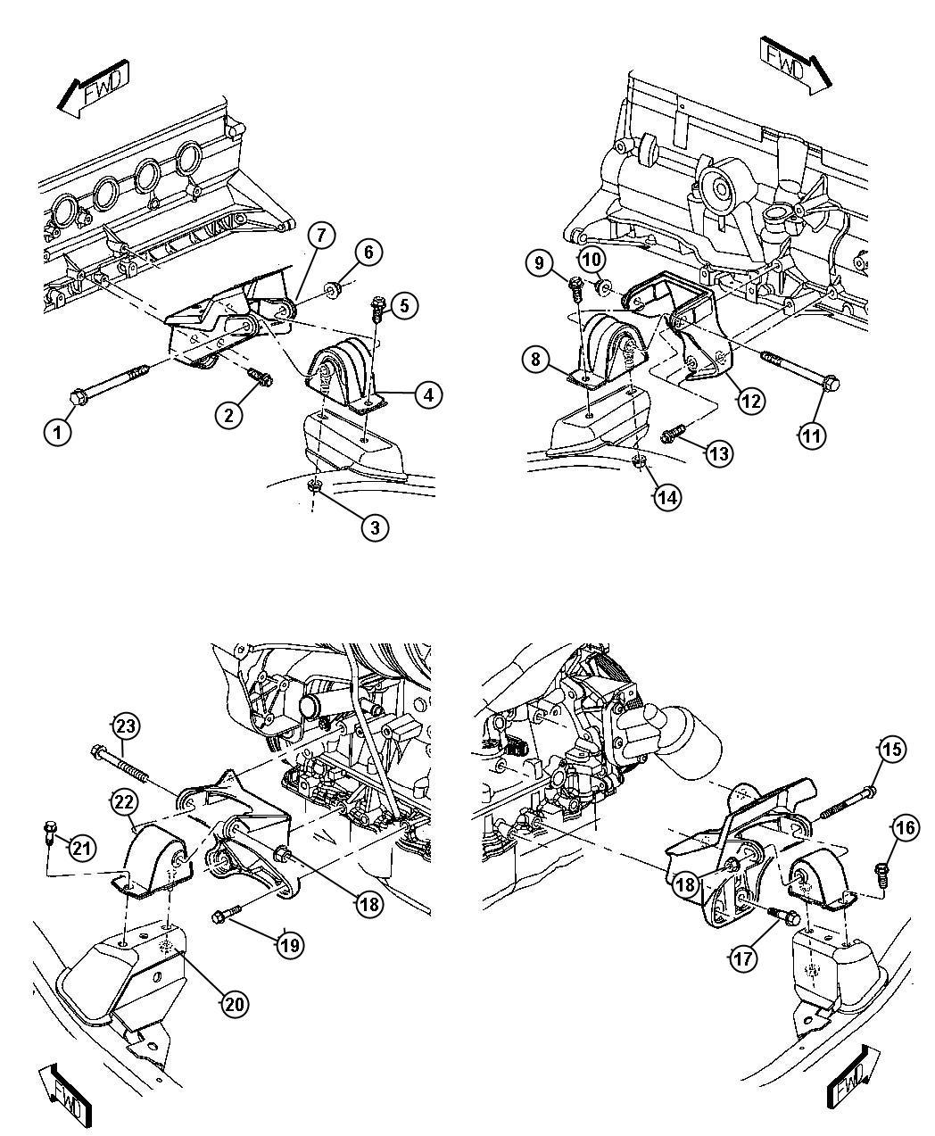 Dodge Caravan Insulator Engine Mount Used For
