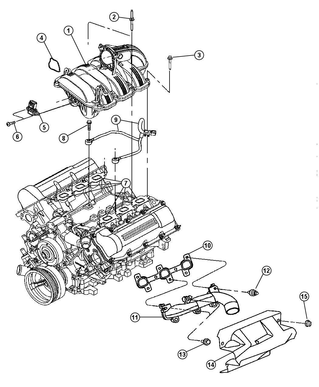 Chrysler 200 Gasket Throttle Body To Intake Engine