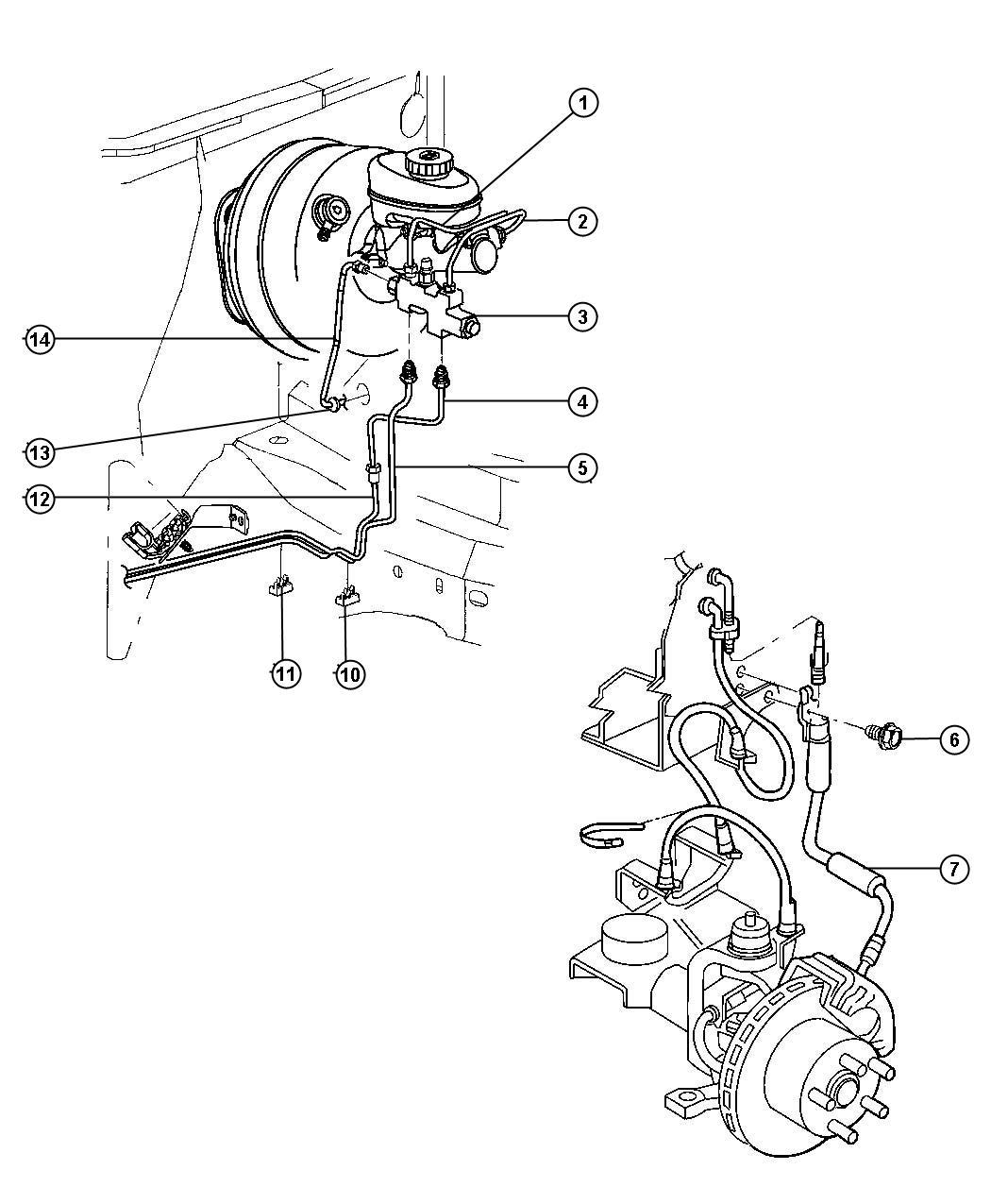 Dodge Grand Caravan Valve Proportioning Brakes