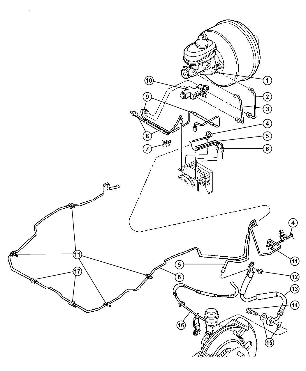 Chrysler 300 Hose Brake Primary Proportioning