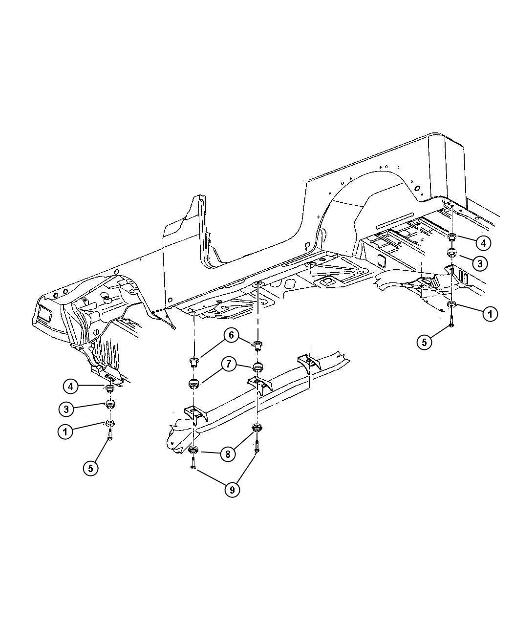 Jeep Wrangler Insulator Body Hold Down Upper Body Mount Mounting Battery