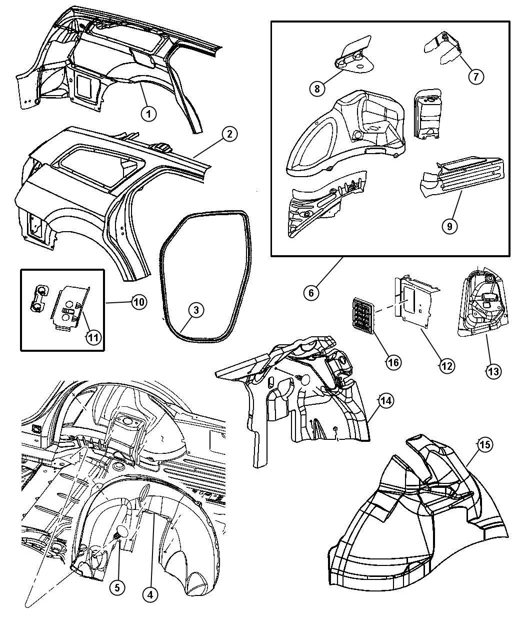 Dodge Charger Panel Rear Wheelhouse Right