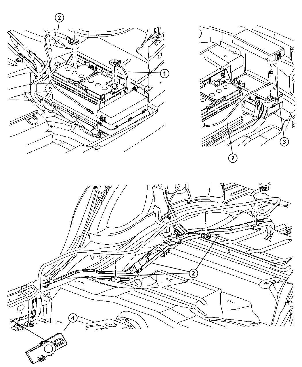 Dodge Charger Wiring Battery Positive Tray