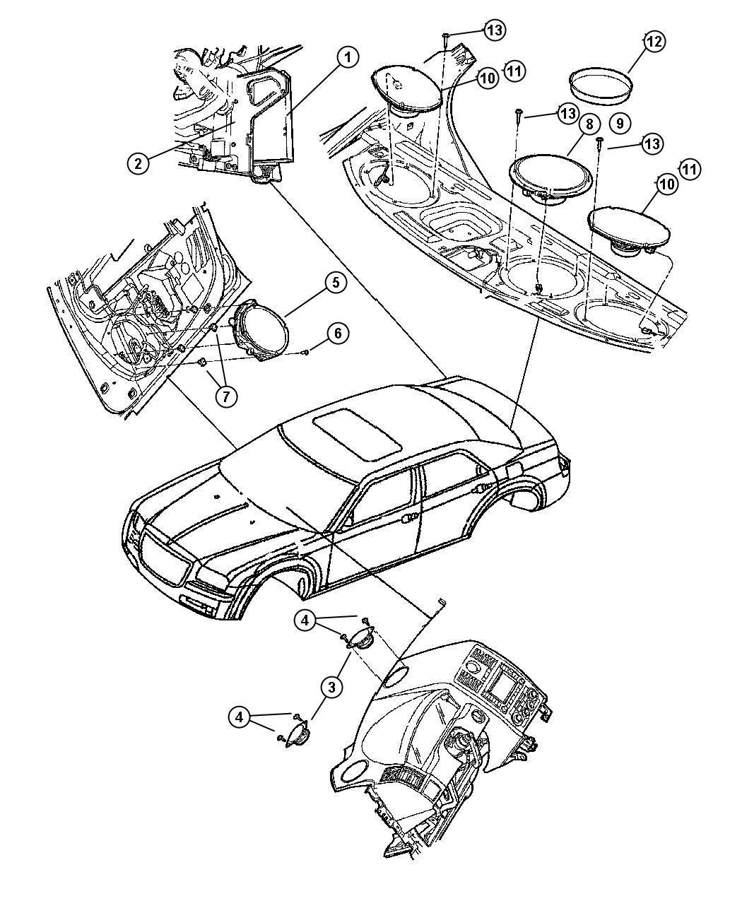 Chrysler 300 Speaker Sub