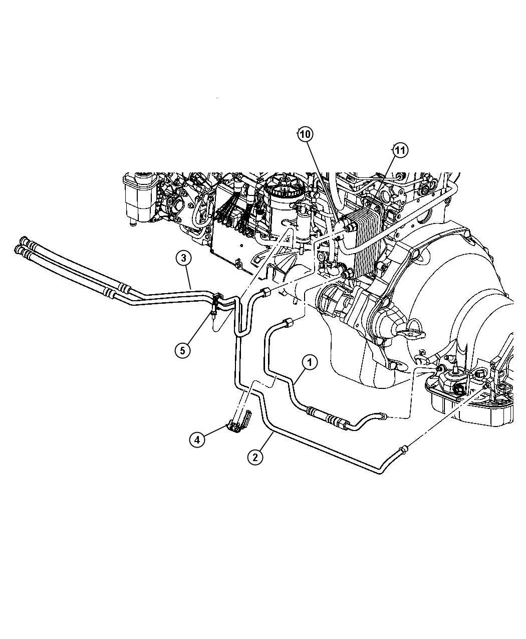 Dodge Ram Tube Oil Cooler Pressure Lines