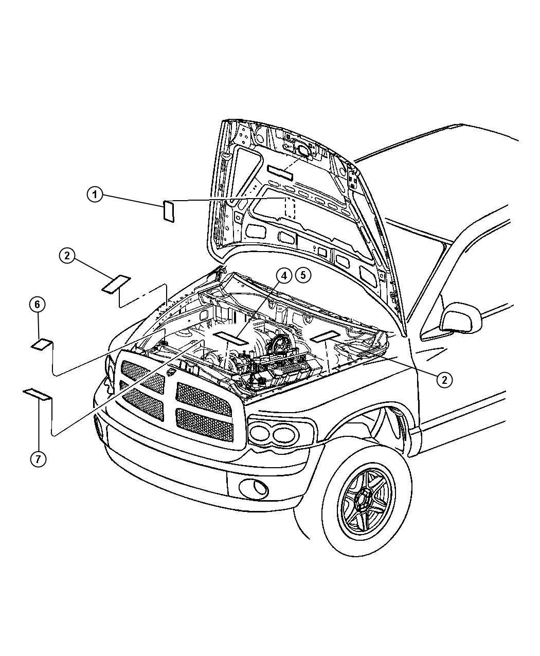 Dodge Ram Label Emission Enginesel General