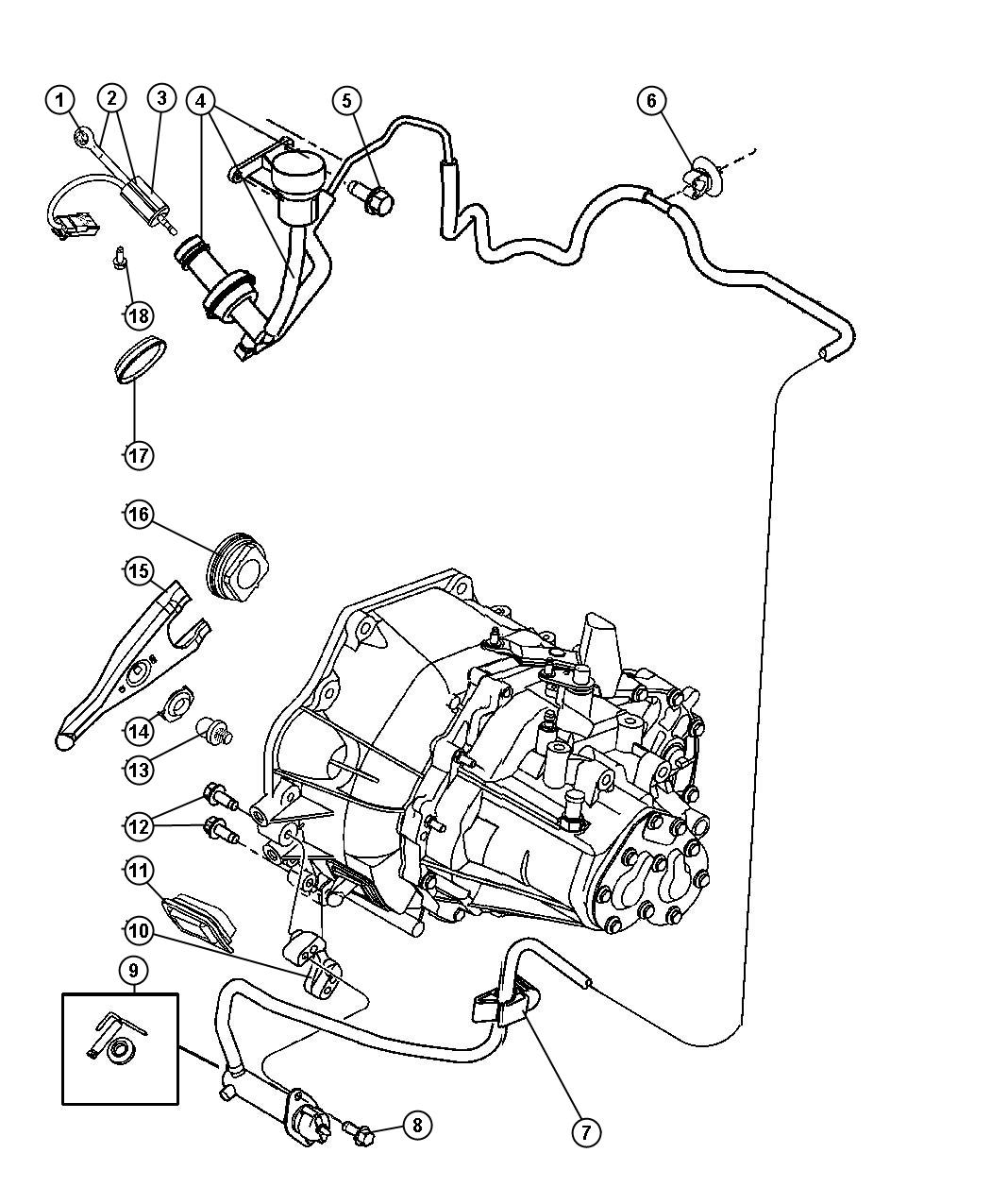 Jeep Patriot Actuator Hydraulic Clutch