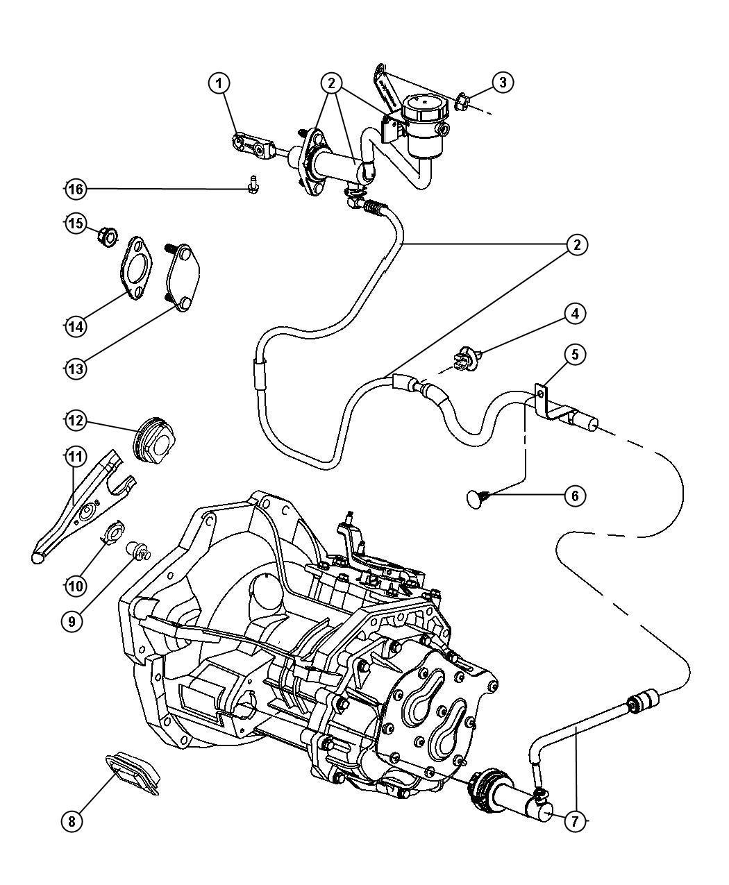 2005 Dodge Neon Transmission Diagram