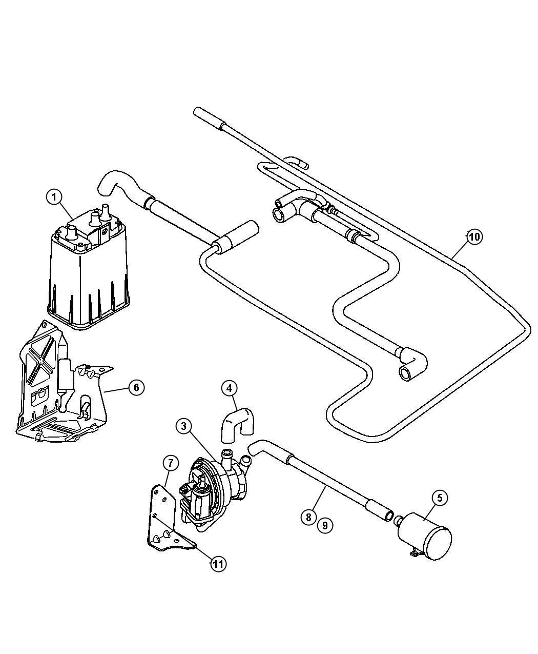 Chrysler Pt Cruiser Tube Nvld To Fuel Vapor Vent