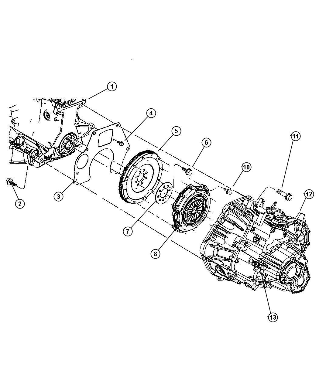 Chrysler Sebring Flywheel Plate Drive Front
