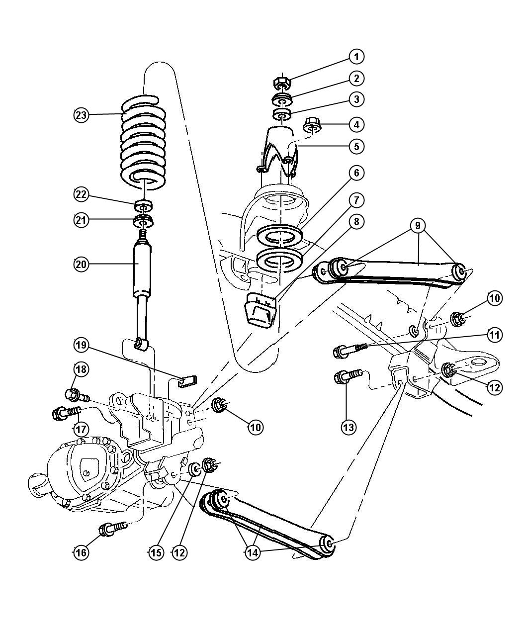 Dodge Ram Spring Front Coil Left Right Suspension Zne Zae