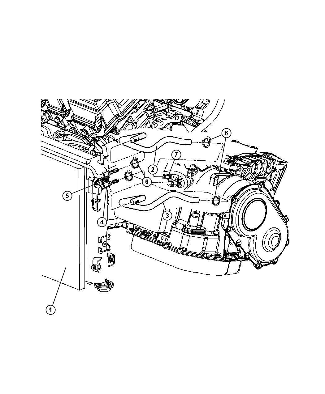 Chrysler Sebring Clamp Hose Radiator Radiator Hose