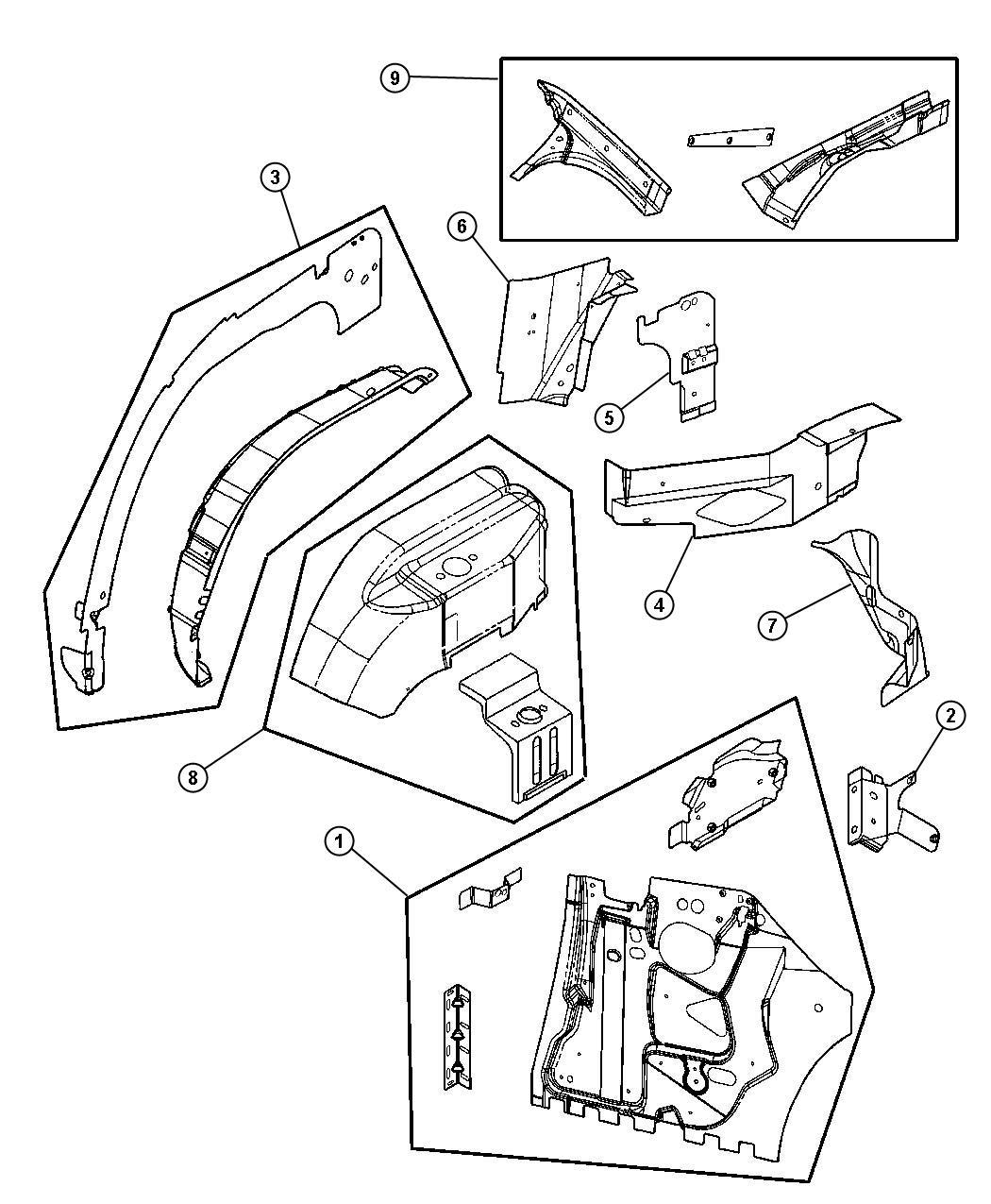 Chrysler Sebring Bracket Right