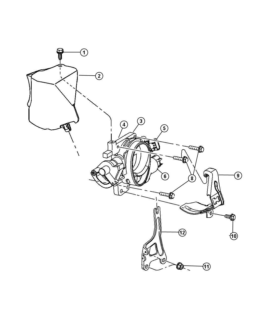 Chrysler Sebring Screw 6 Lobe Throttle Cable To Support