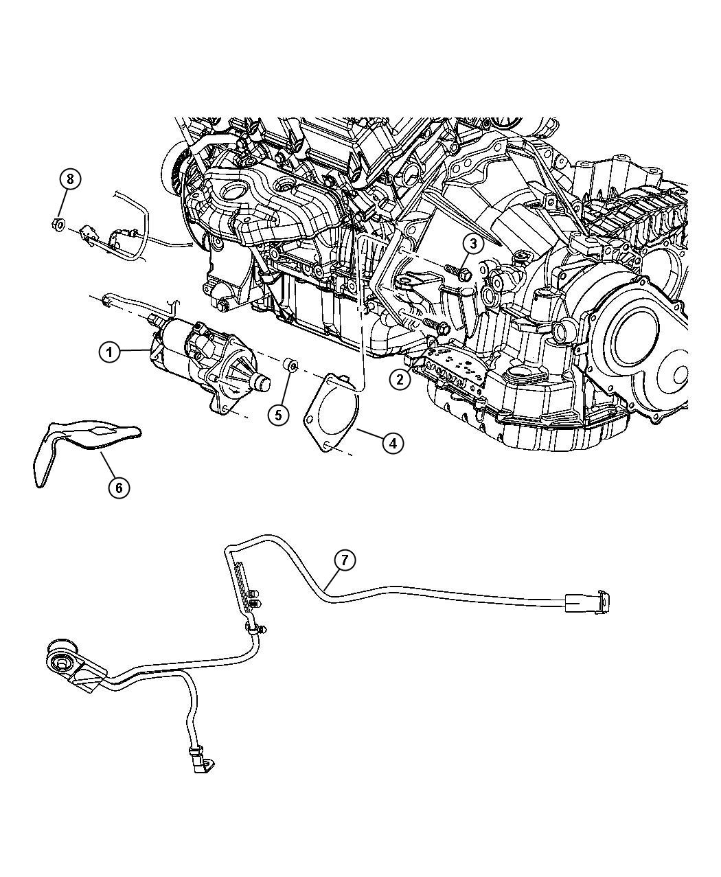 Chrysler Sebring Starter Engine Export Maintenance