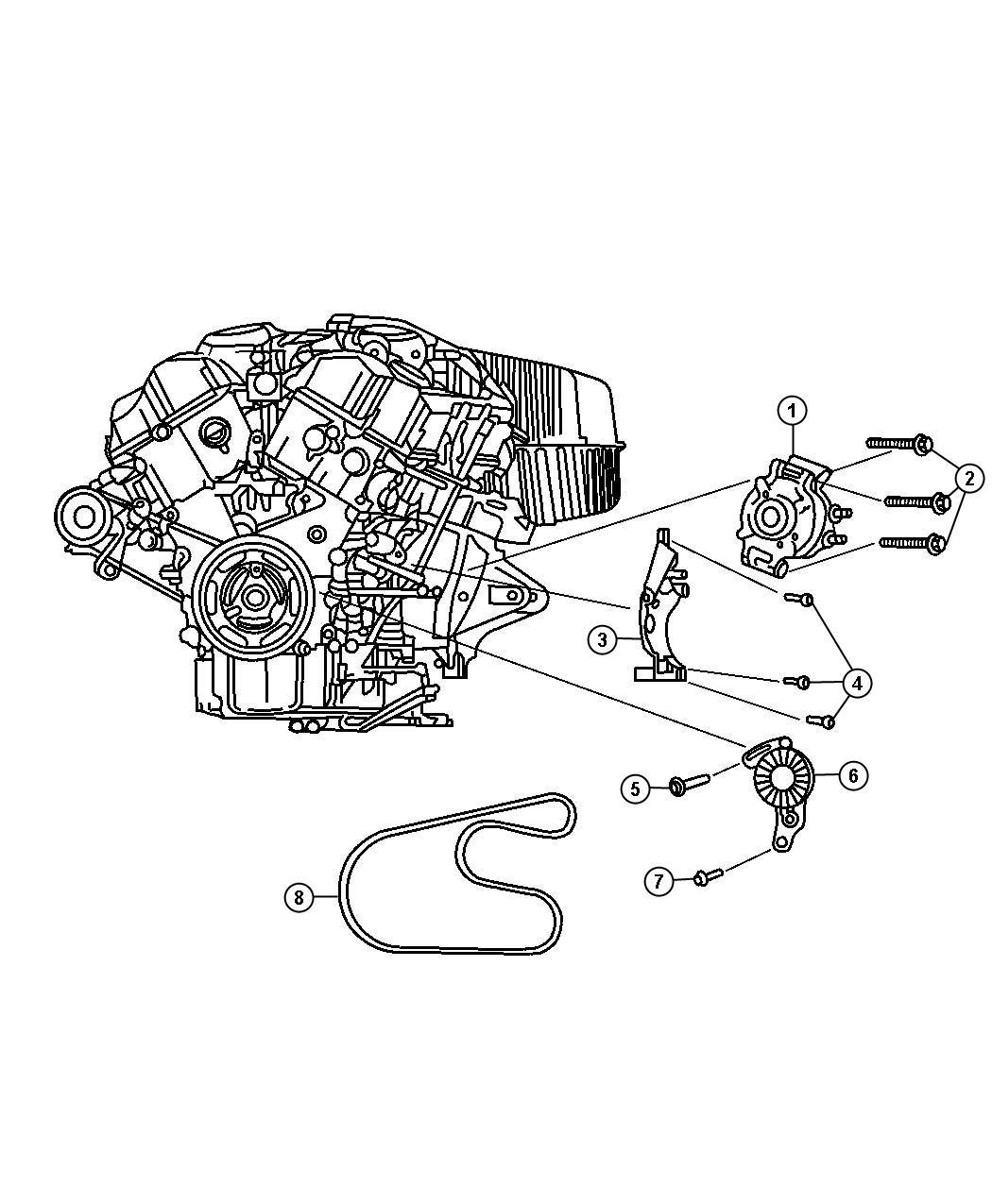 Chrysler Sebring Belt Used For Alternator And A C