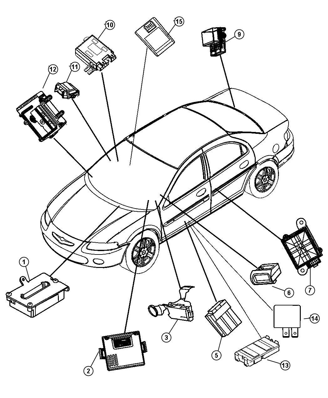 Chrysler Sebring Module Body Controller Air Conditioning Haa