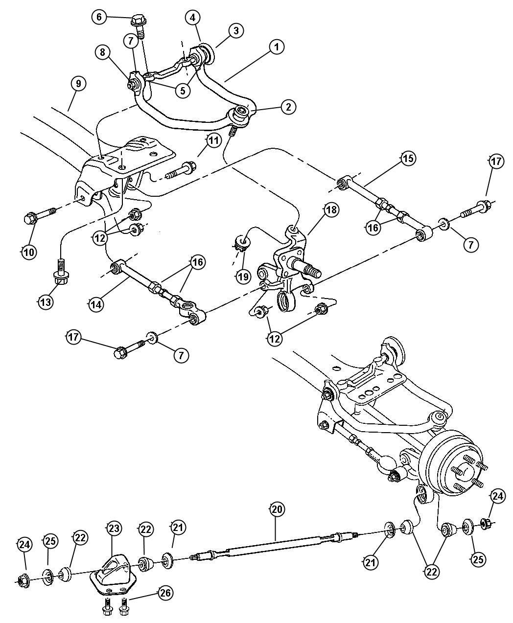 Chrysler Sebring Arm Control Right Upper Suspension