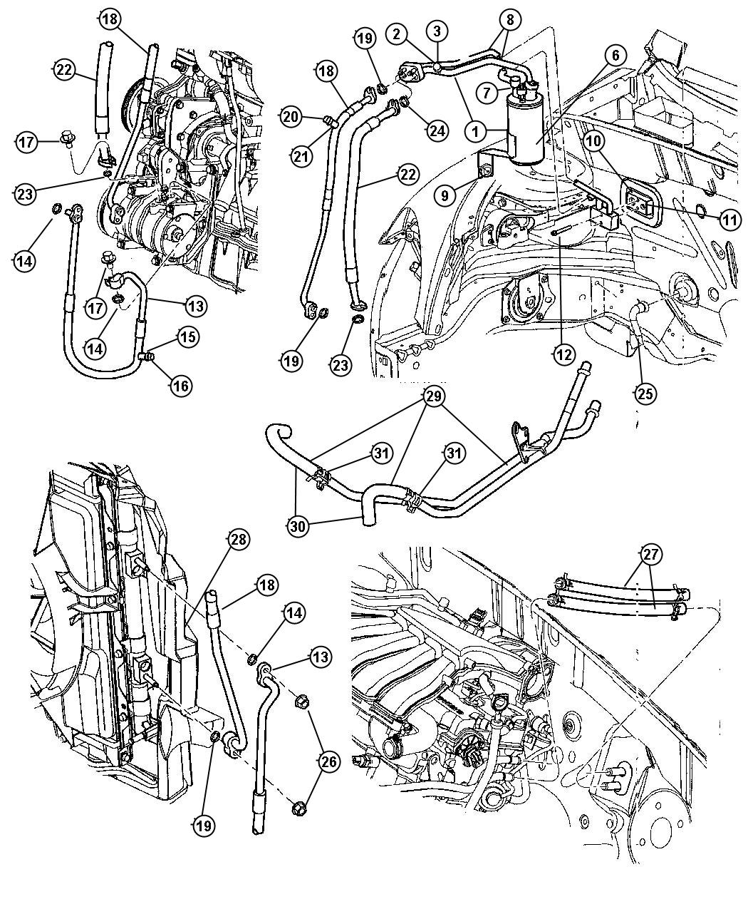 Chrysler Air Conditioner Parts Diagram Wiring Diagram For Free
