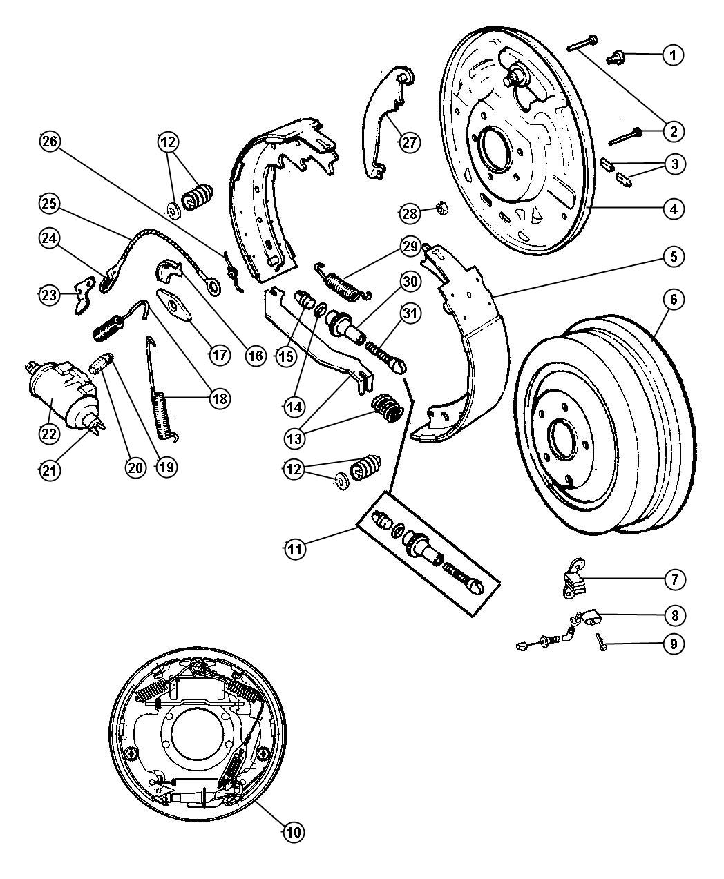 Jeep Wrangler Cylinder Wheel Right Or Left 03 10