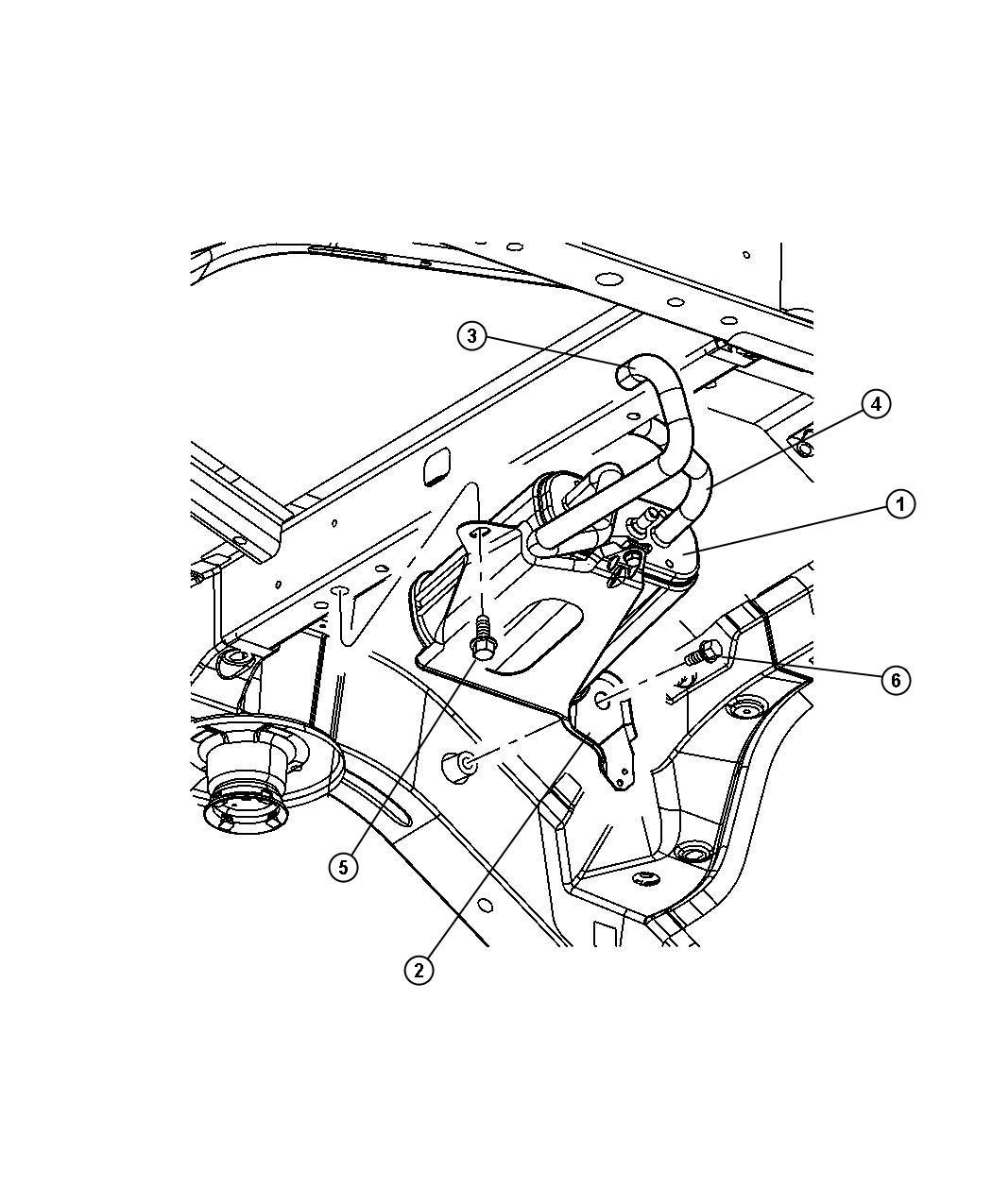 Jeep Liberty Canister Vapor Pump Detection Leak