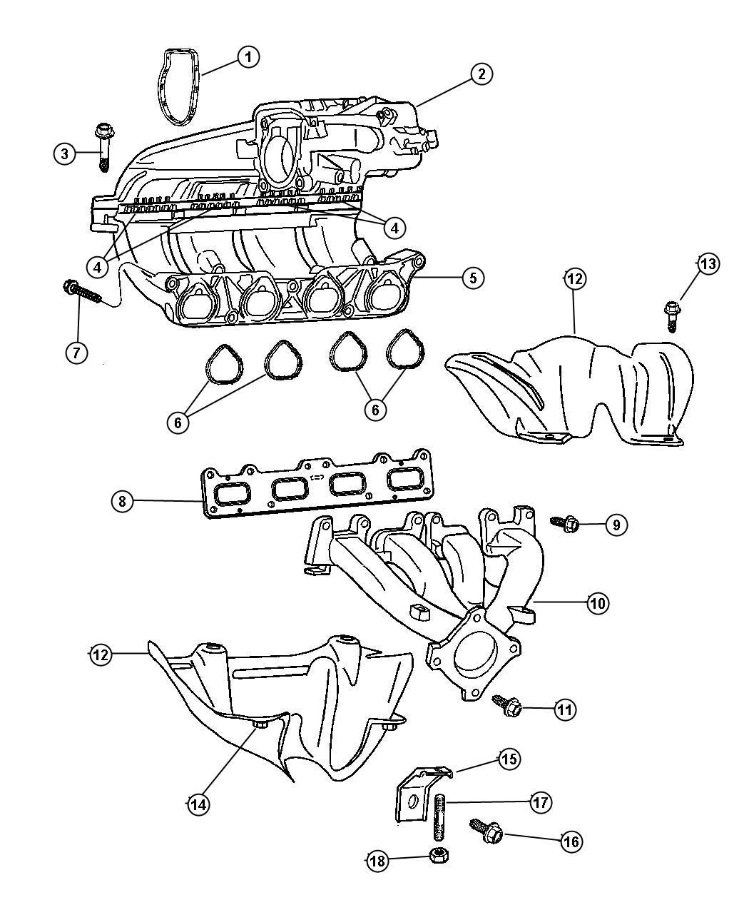 Jeep Wrangler Gasket Intake Manifold Intake Plenum