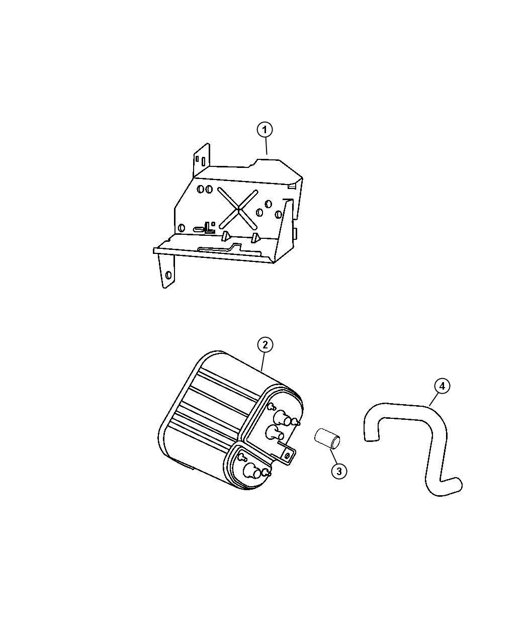 Jeep Wrangler Canister Vapor Emissions