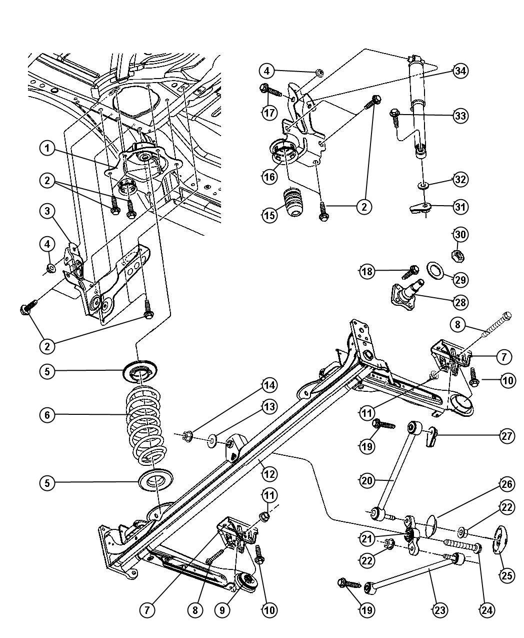 Chrysler Pt Cruiser Shock Absorber Suspension Sdc