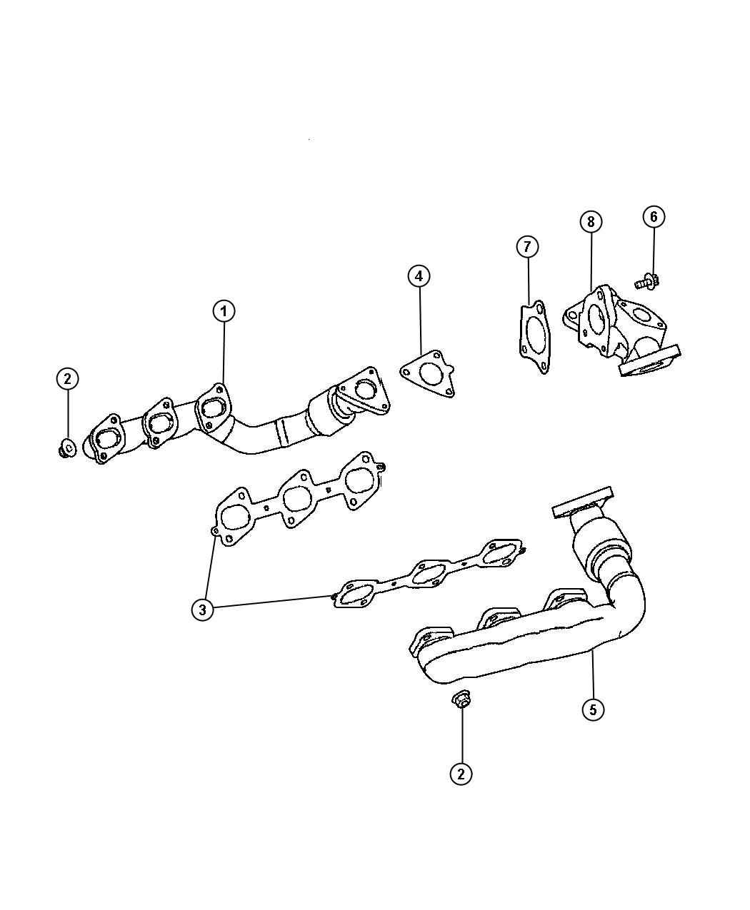 Dodge Sprinter Seal Exhaust Manifold Leftsel