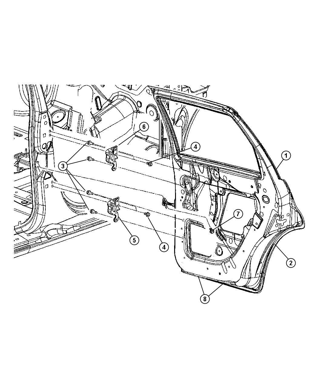 Chrysler Pt Cruiser Door Rear Right