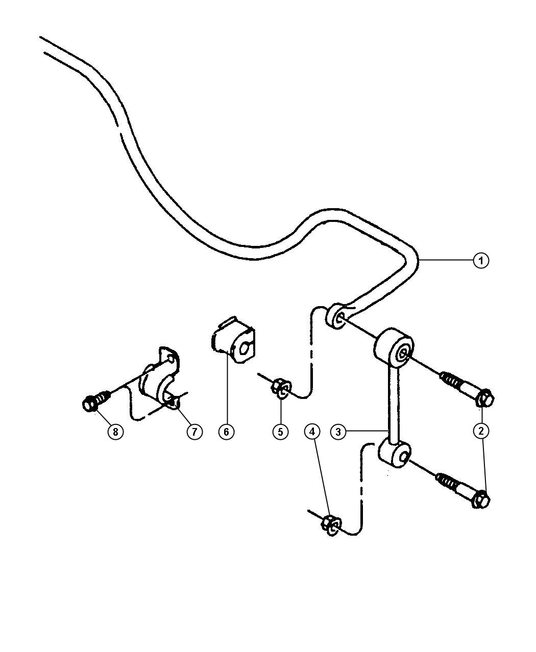 Dodge Dakota Bushing Stabilizer Bar Sway Bar