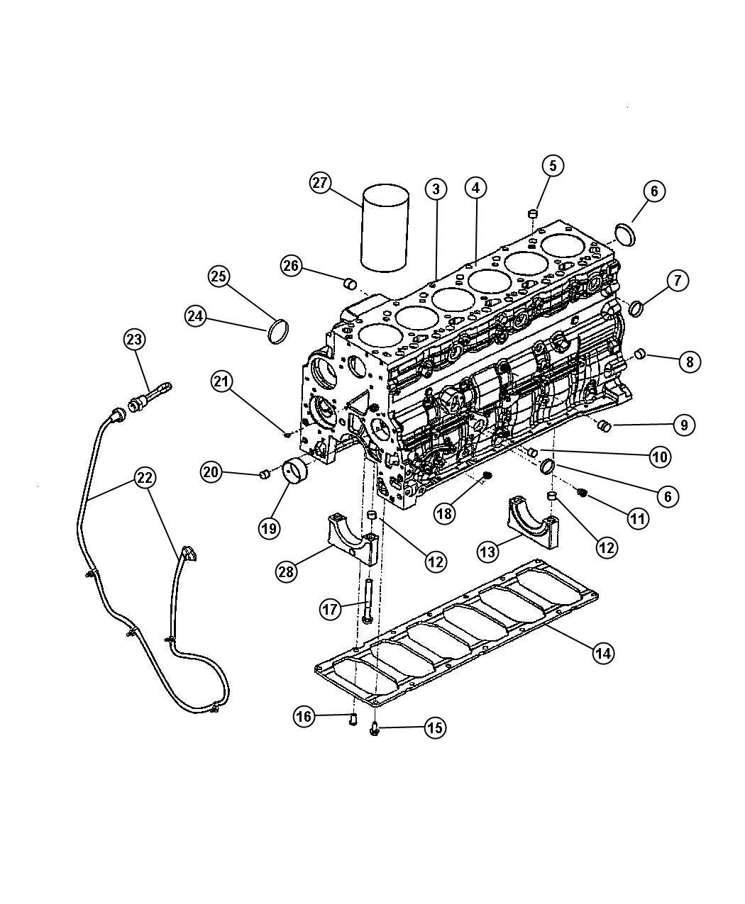 Dodge Ram Plug Core Cylinder Block Cylinder