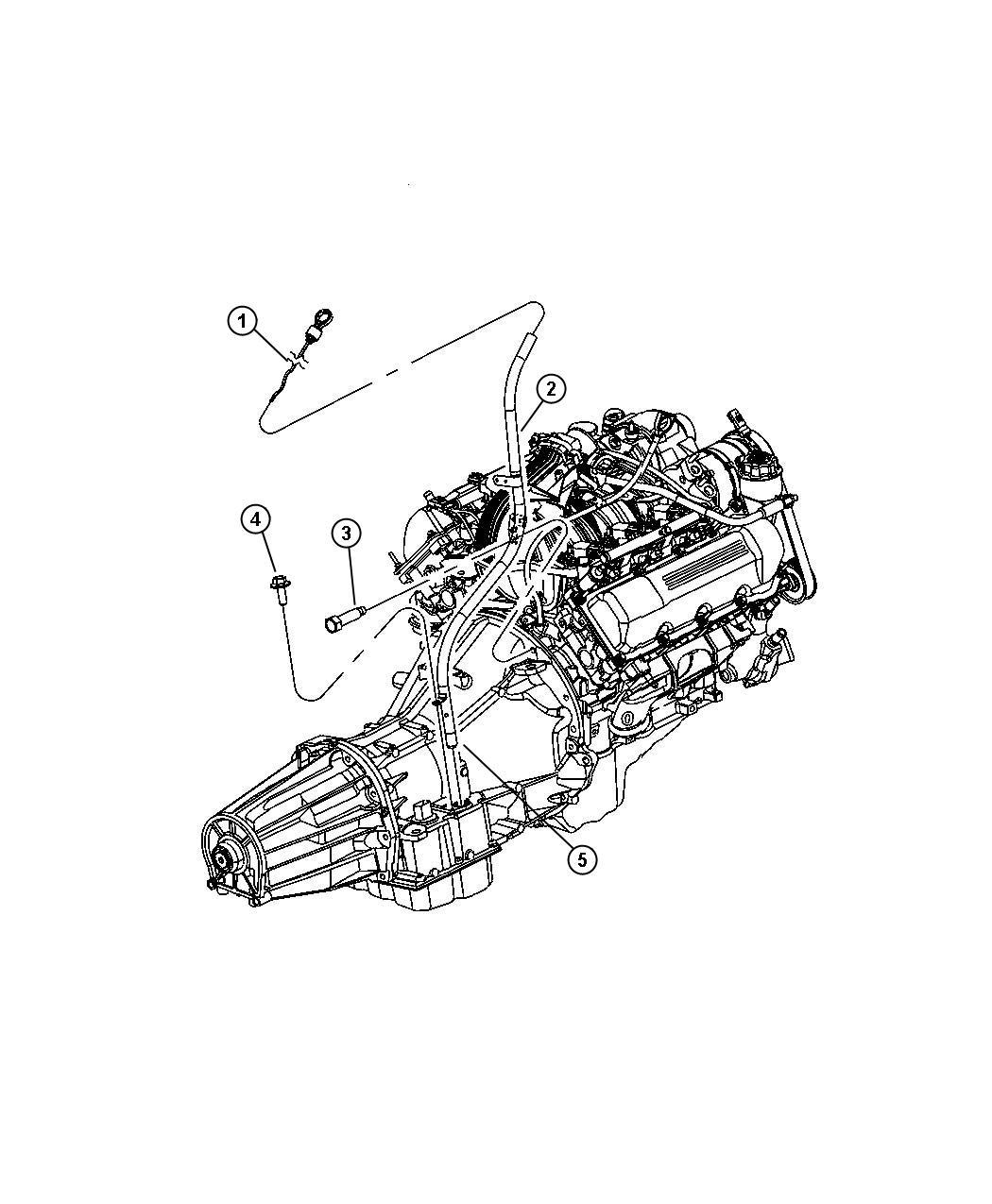 Jeep Liberty Indicator Transmission Fluid Level Mounting