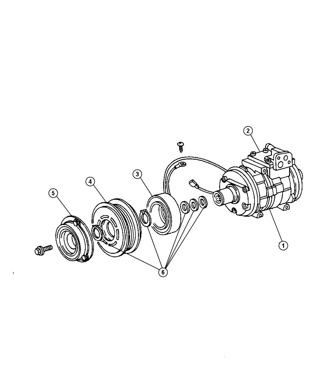 Jeep Wrangler Compressor Air Conditioning Export