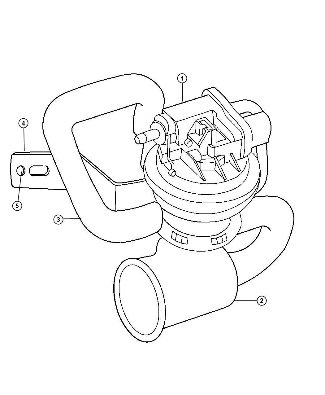 Dodge Viper Tube Leak Detection Pump Vacuum Supply
