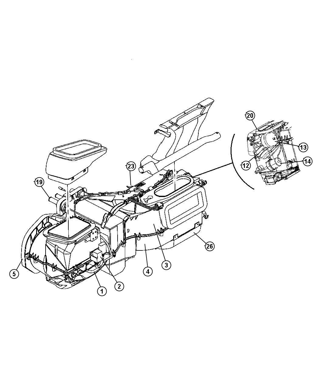 Jeep Wrangler Drain Tube Evaporator Housing Used For A