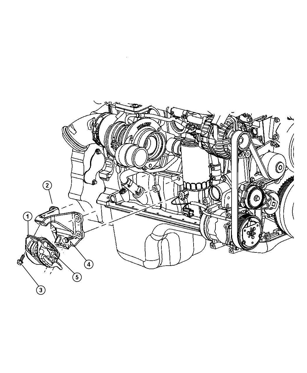 Dodge Ram Insulator Engine Mount Used For