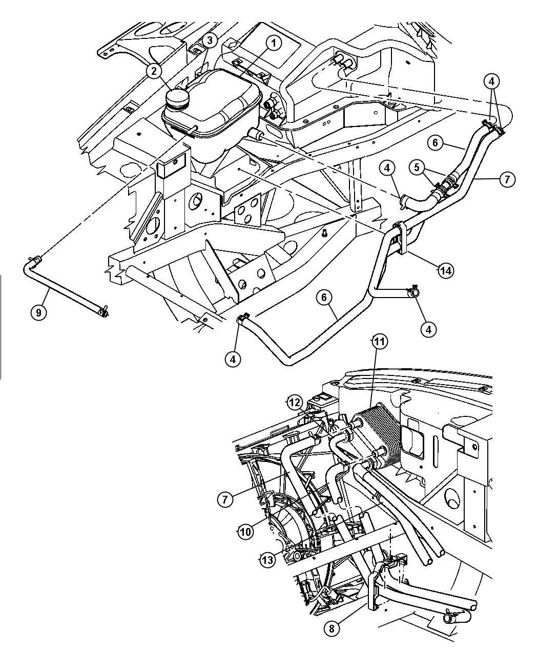 Dodge Viper Line Oil Cooler Inlet Ewc Floor