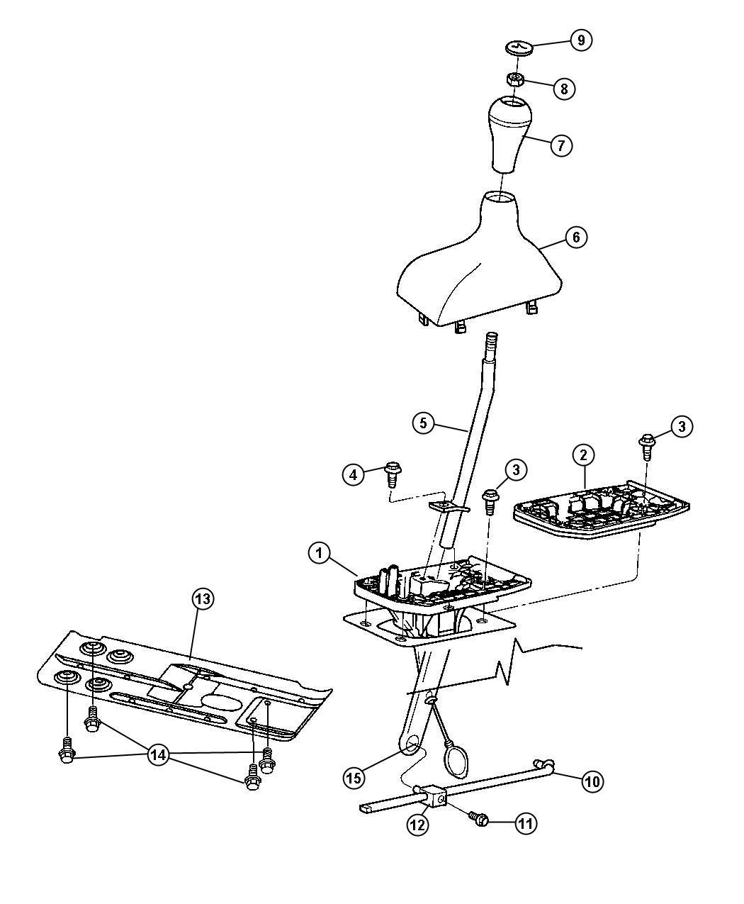 Dodge Ram Rod Gear Shift Control Transfer Case