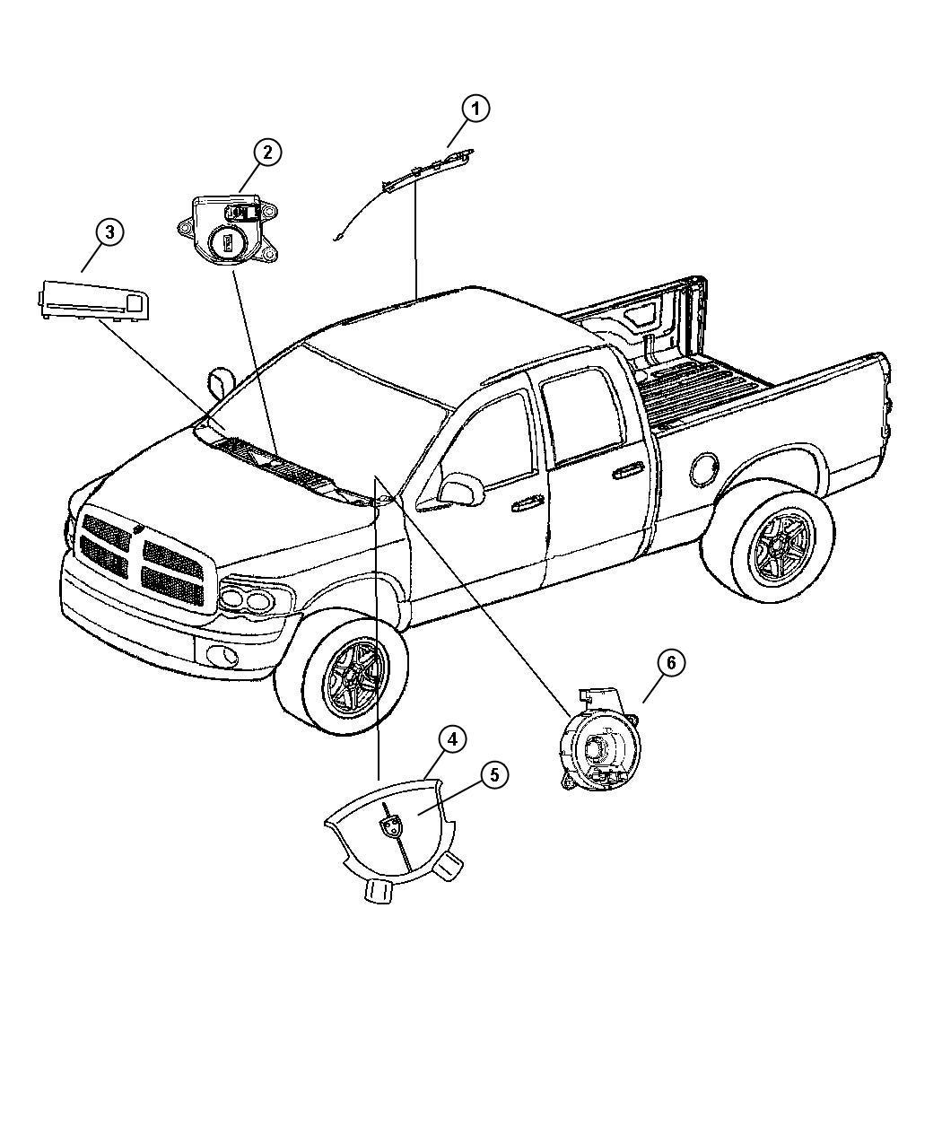 Dodge Ram Clockspring Steering Column Control