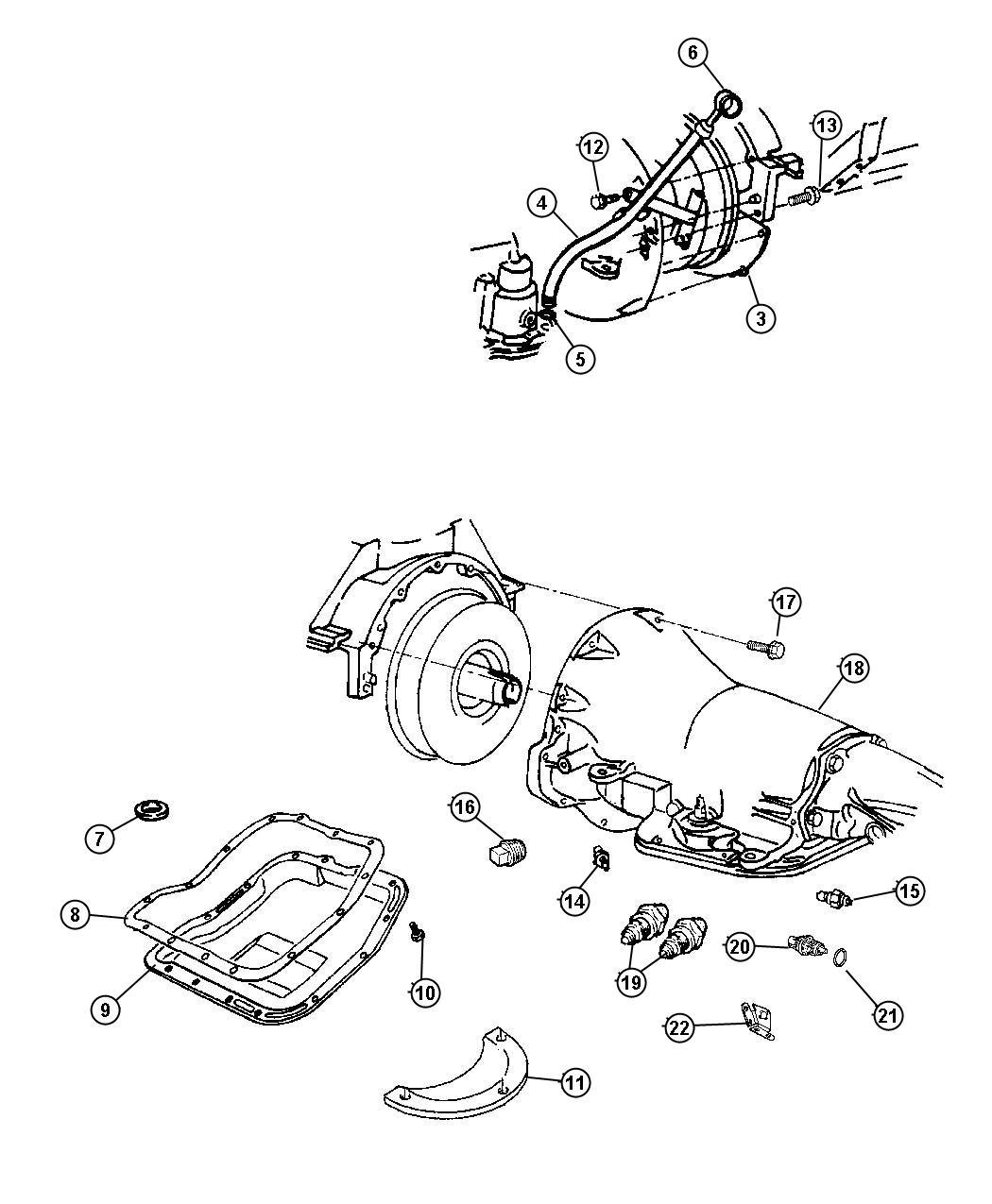 Dodge Avenger Connector Oil Cooler Tube Threaded