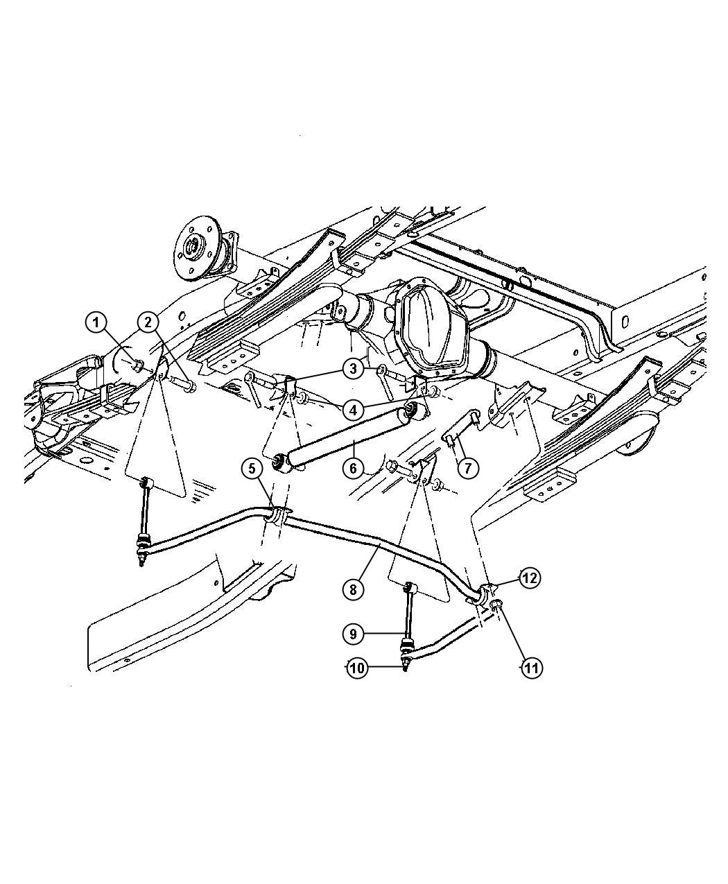 Dodge Nitro Link Sway Eliminator She Value Line Stabilizer Rear Bar