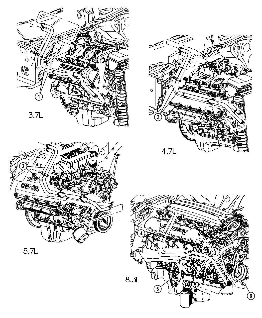 Dodge Ram Hose Heater Heater Supply Supply And Return Plumbing