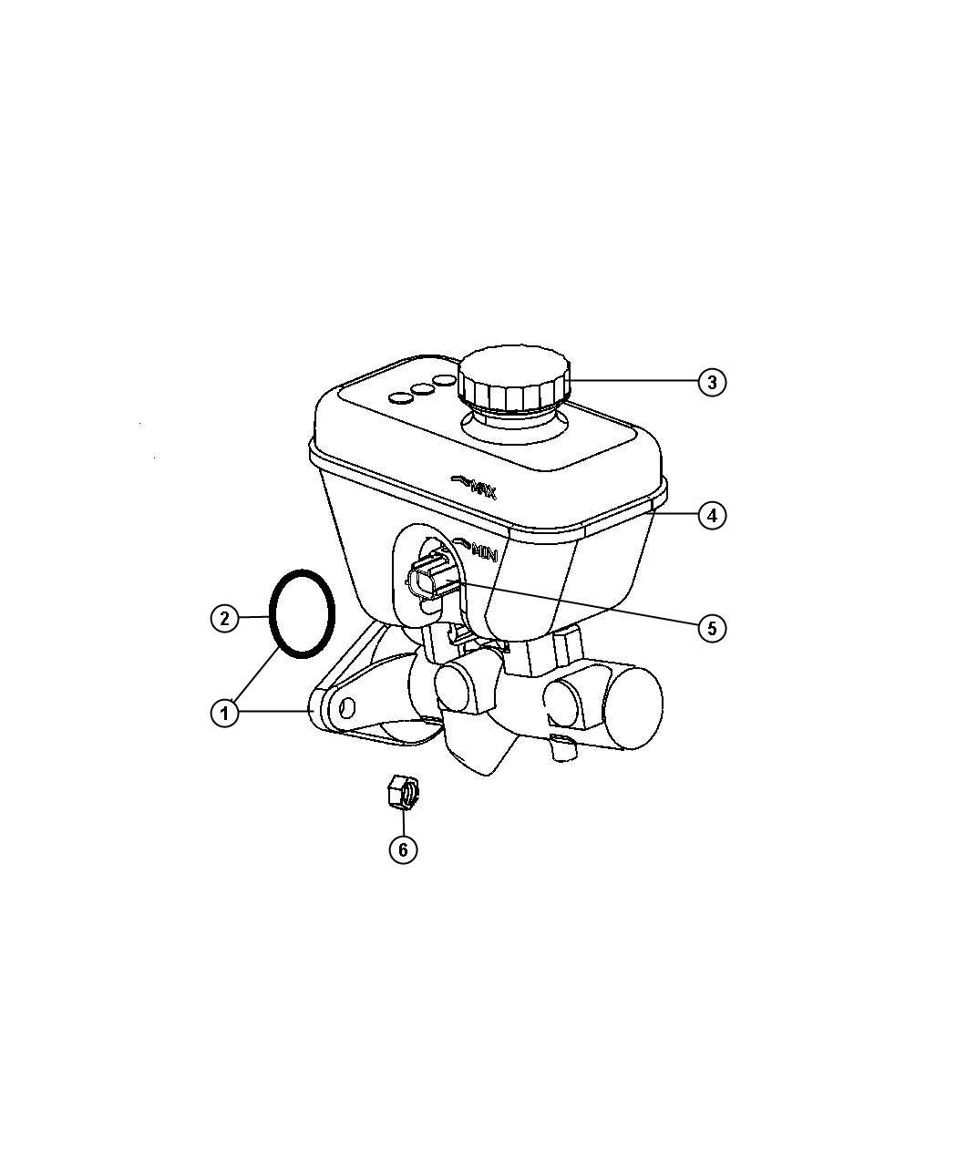 Jeep Commander Reservoir Brake Master Cylinder